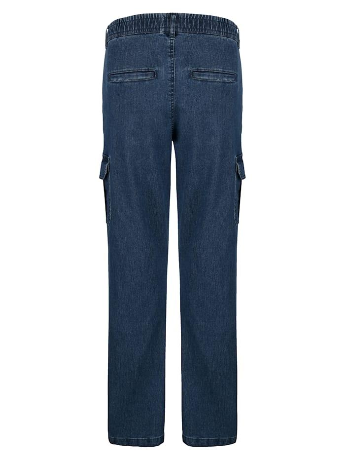 Jeans met tunnelkoord in de band
