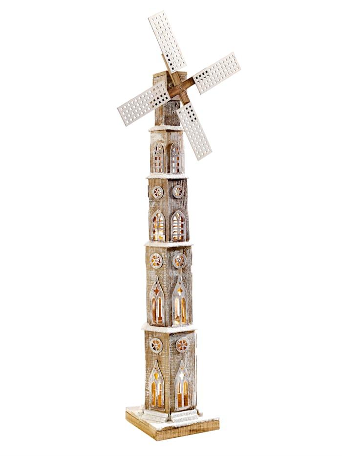 Puinen LED-tuulimylly