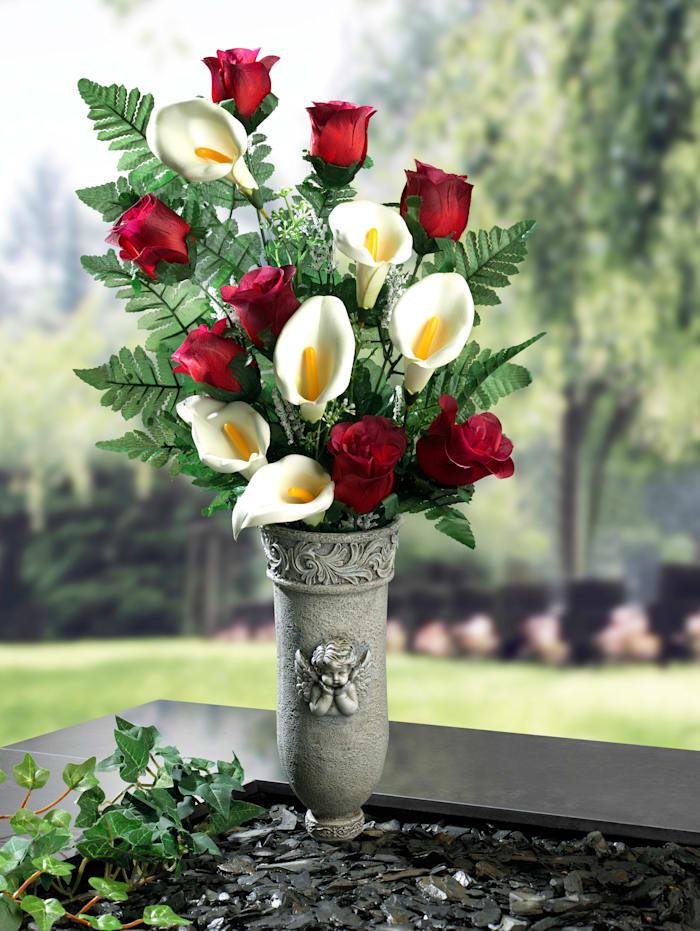 Váza na hrob, šedá