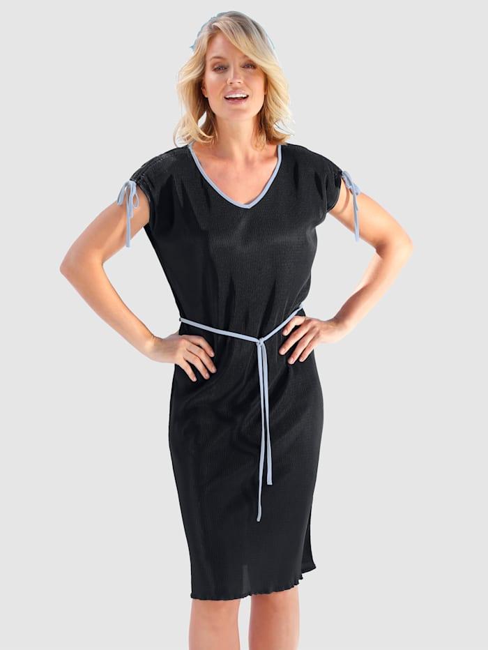 Paola Klänning med knytband, Marinblå