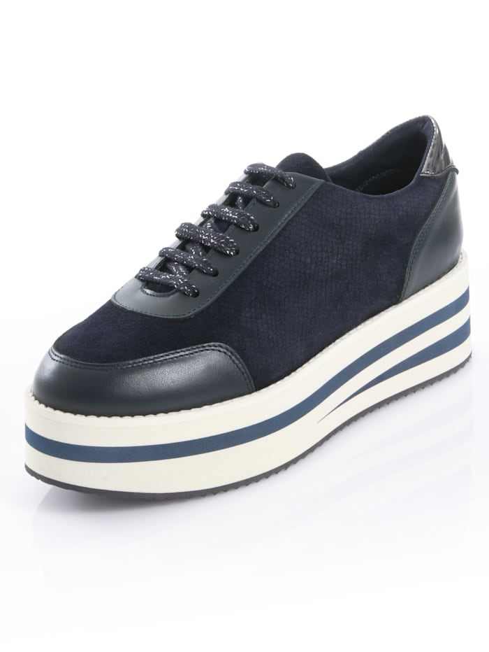 Alba Moda Sneaker met dikke plateauzool, Marine