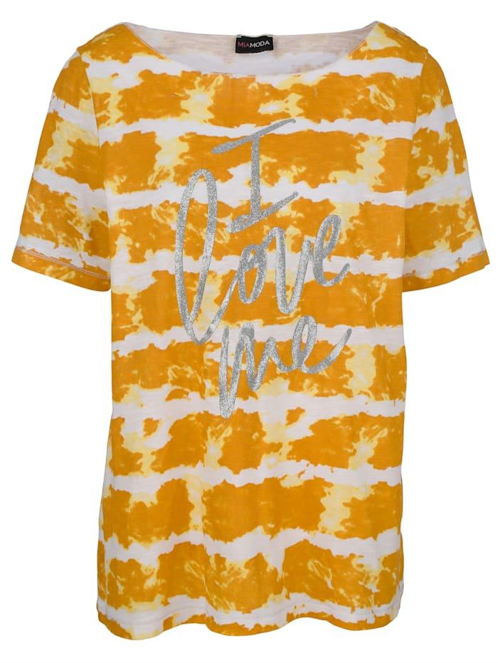 MIAMODA Shirt in Batik Optik, Gelb
