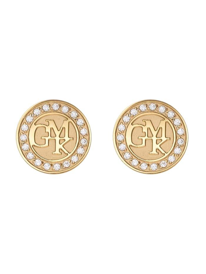 Guido Maria Kretschmer Collec. GMK Collection By CHRIST Damen-Ohrstecker Edelstahl 38 Zirkonia, gold