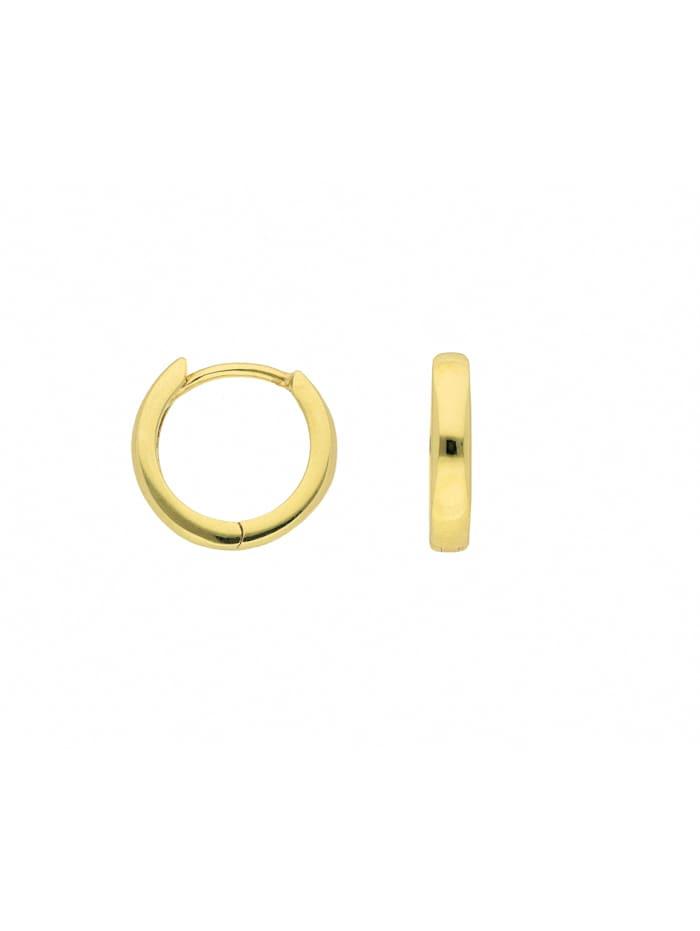 1001 Diamonds Damen Goldschmuck 333 Gold Ohrringe / Creolen Ø 12 mm, gold