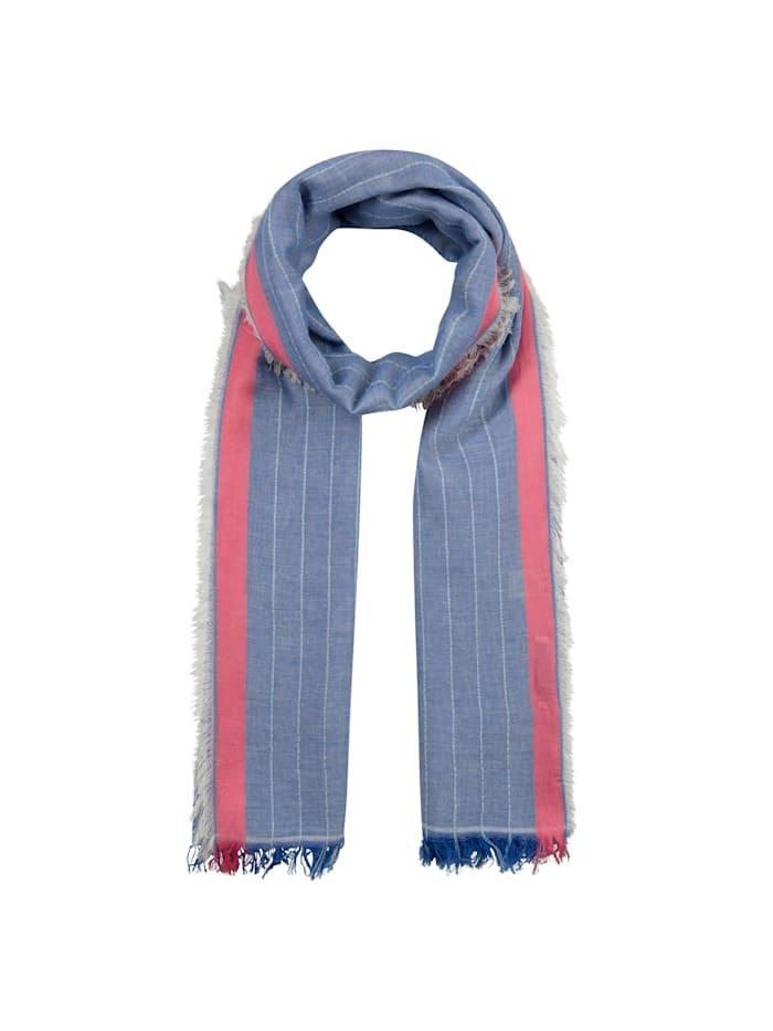Codello XL-Streifenschal aus Modal und Baumwolle, jeans blue