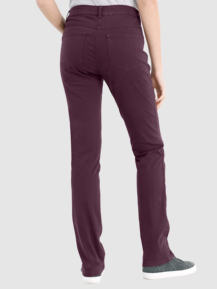 Trousers Laura Slim - with a side ribbon trim