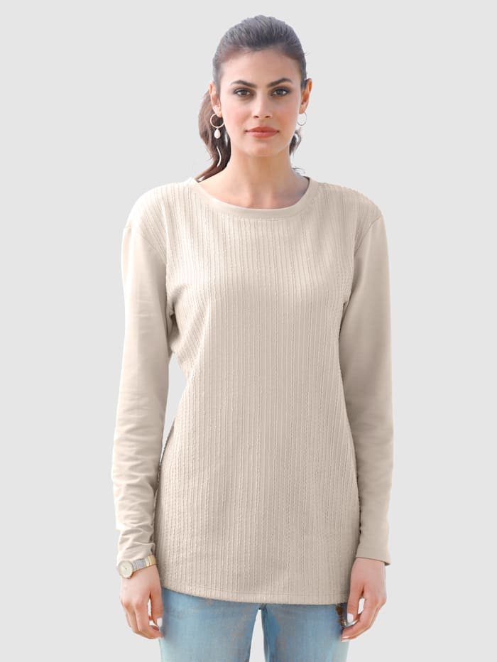 AMY VERMONT Sweatshirt in klassischer Form, Beige