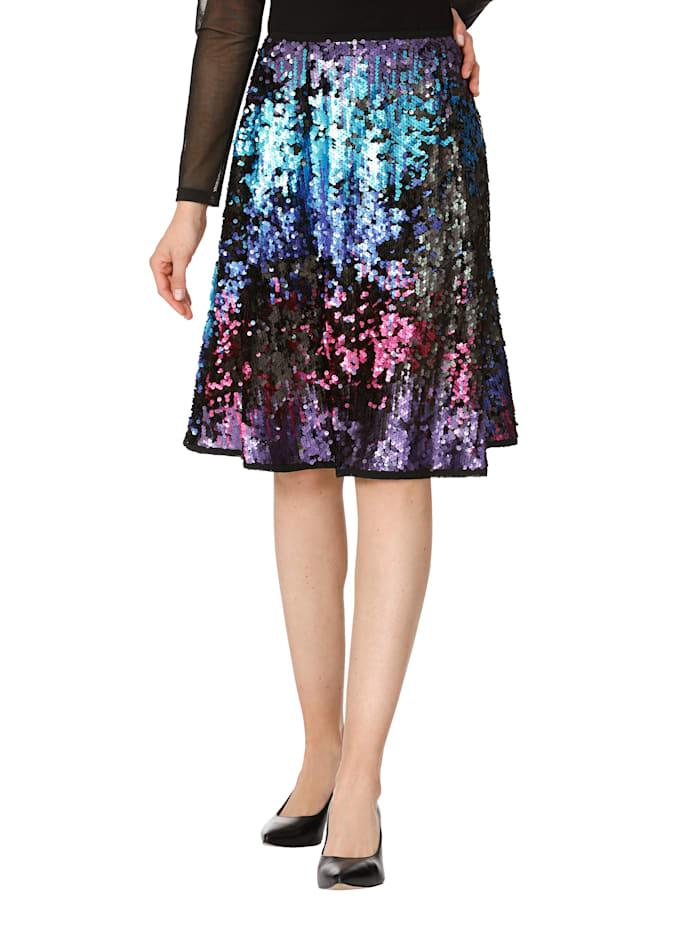 AMY VERMONT Jupe à sequins, Multicolore