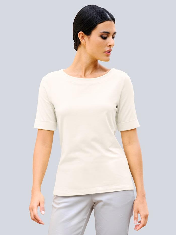 Alba Moda Shirt in hochwertiger Materialmischung, Off-white