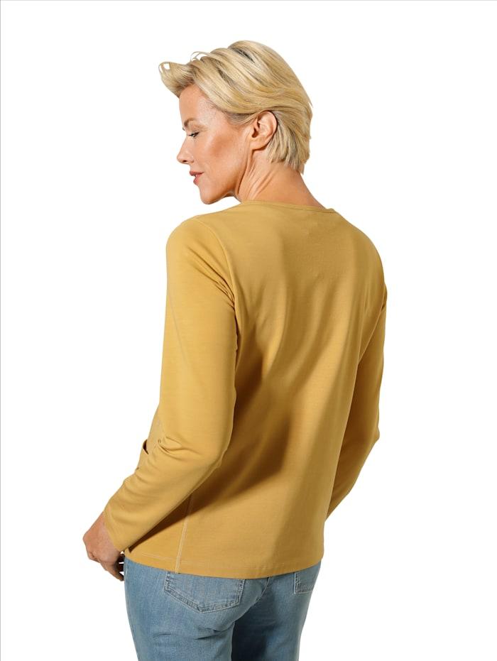 Shirtjacke mit aufgesetzten Taschen