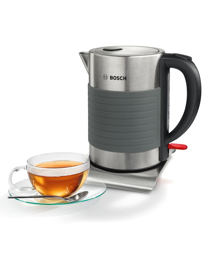 Bosch Bosch snoerloze waterkoker TWK7S05, grijs/zwart