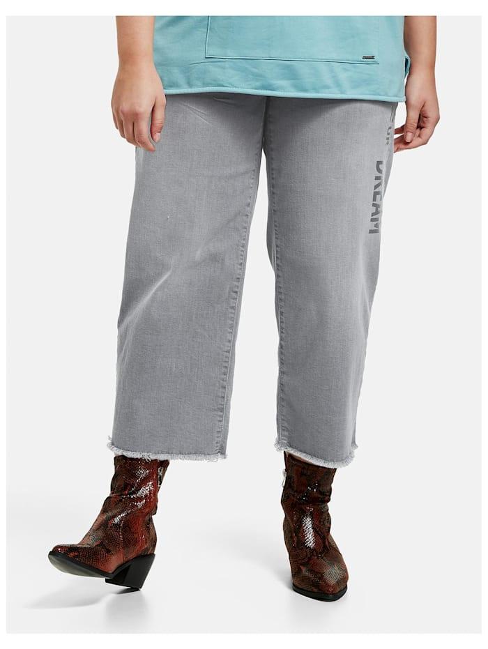 Samoon Culotte-Jeans Lotta, Light Grey Denim