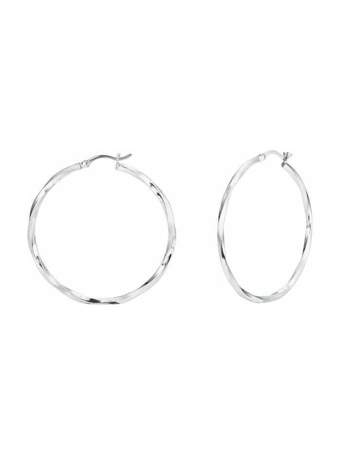 amor Creolen für Damen, Silber 925, 42 mm, Silber