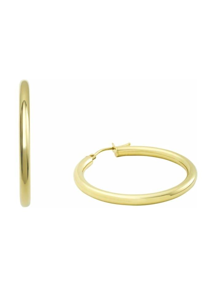 amor Creolen für Damen, Gold 375, 28 mm, Gold