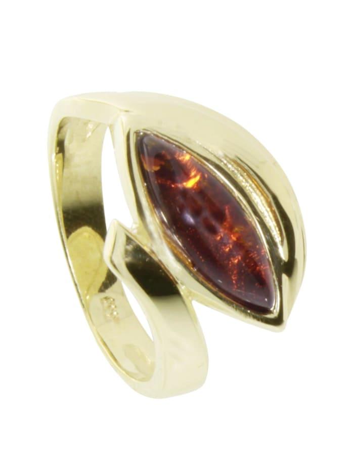 OSTSEE-SCHMUCK Ring - Morla - Gold 333/000 - Bernstein, gold