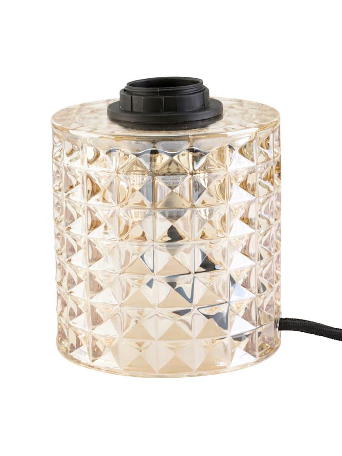 IMPRESSIONEN living Lampe de table, Cognac, relief carrés