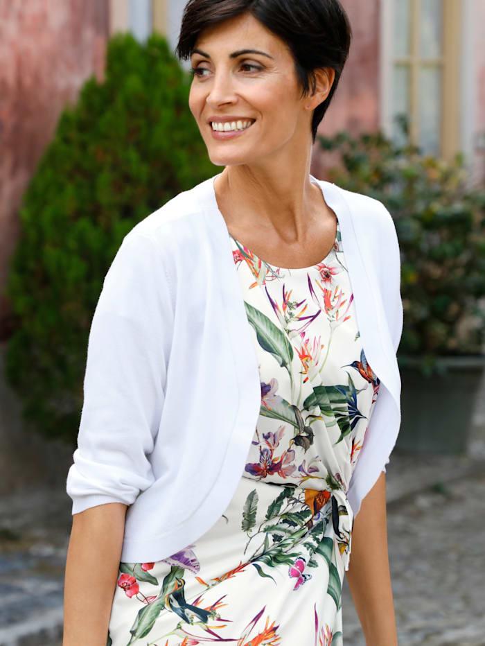 Paola Boléro en maille de coupe ouverte, Blanc