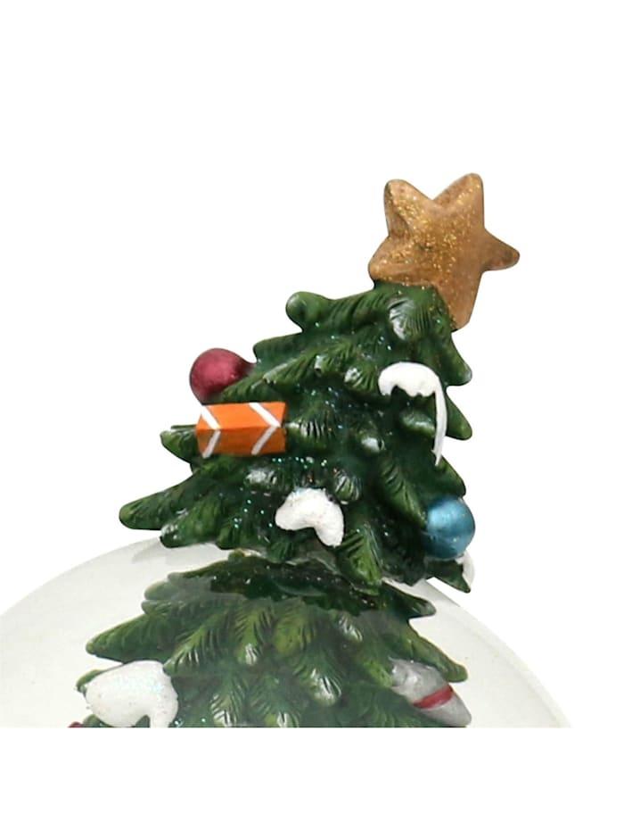 Schneekugel Schneemann am Tannenbaum