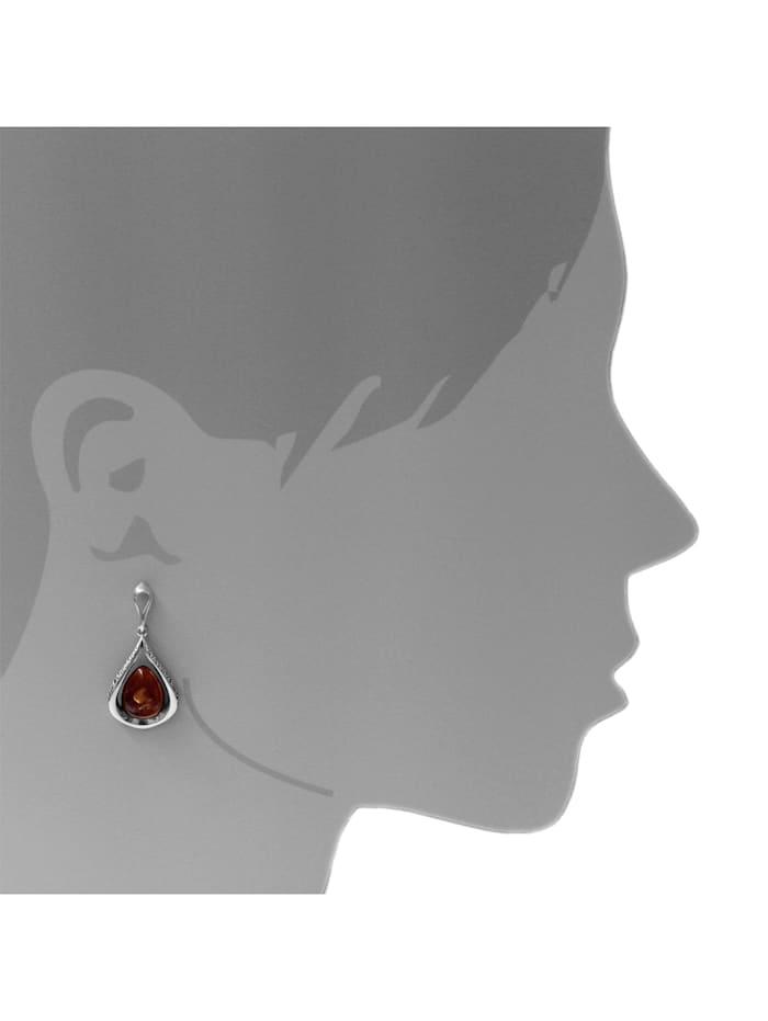 Ohrhänger - Nicoletta - Silber 925/000 - Bernstein