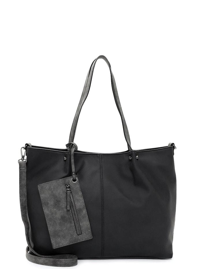 EMILY & NOAH Shopper Bag in Bag Surprise Uni, black grey 108D