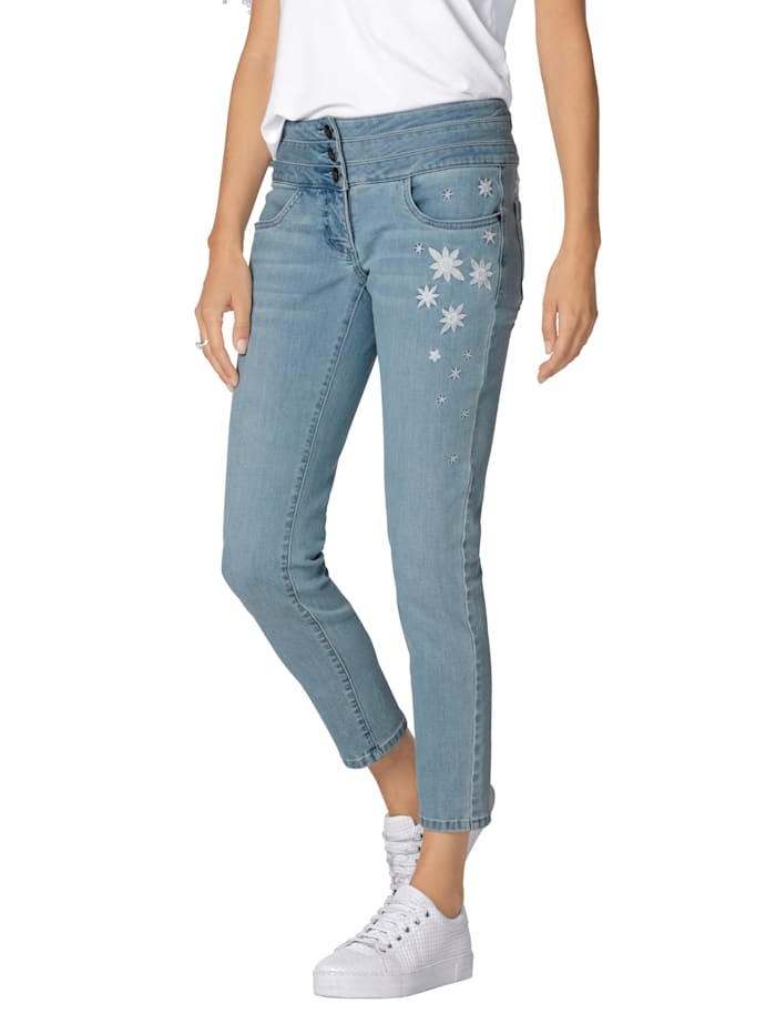 AMY VERMONT Jeans mit Stickerei, Light blue