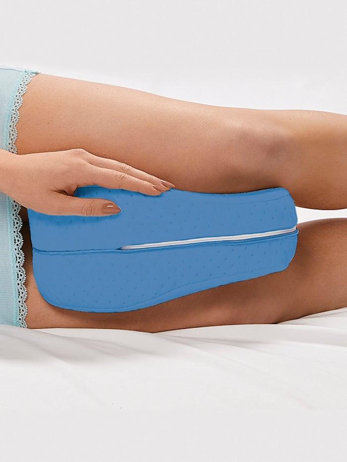 MediaShop Coussin pour genoux et jambes Dreamolino Cool Leg, Bleu