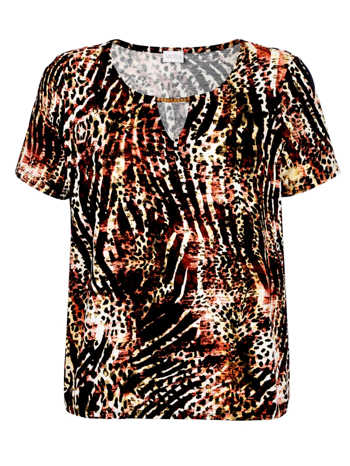 Shirt mit effektvollem Druckdessin