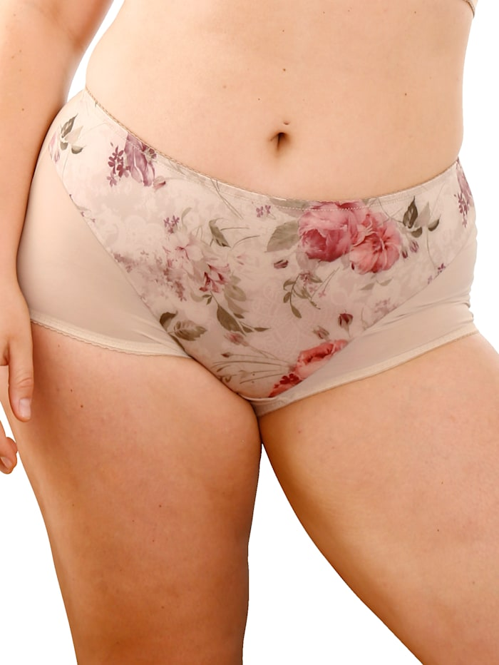 Dessous Dessus Taillenslip in leicht transparenter Optik, Beige