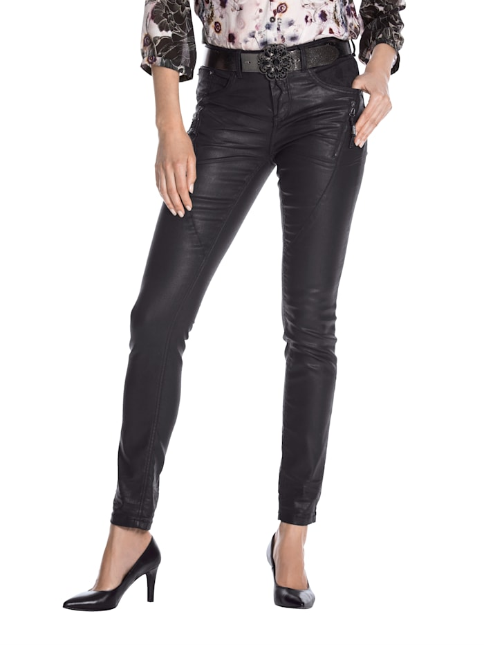 Cream Jeans met hoogwaardige details, Zwart