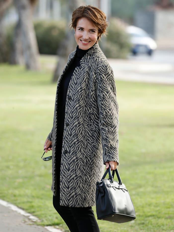 Paola Jas met wol, Zwart/Wit