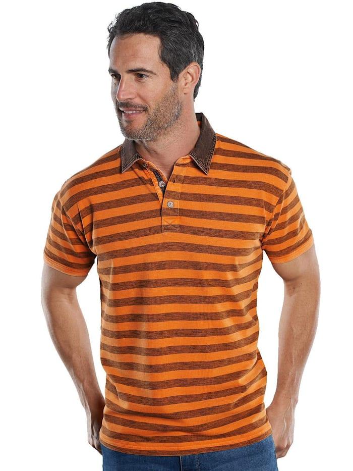 Engbers Poloshirt mit Kontrastdetails, Tieforange