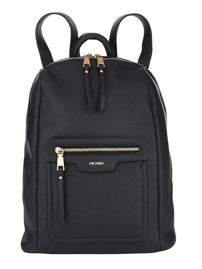 Picard Backpack Made from a soft fabric, Navy