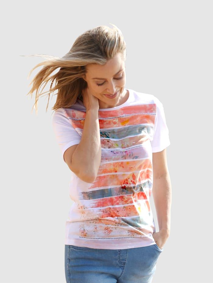 basically you Shirt met print, Wit