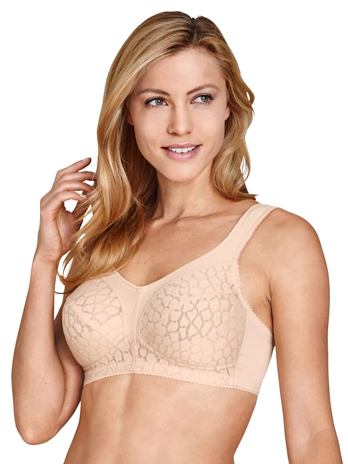 Bra with underbust support panels