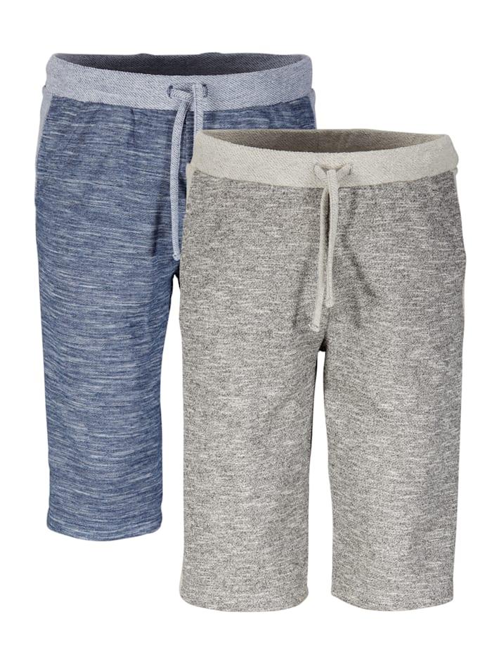 BABISTA Mjuka shorts i 2-pack, grå & blå