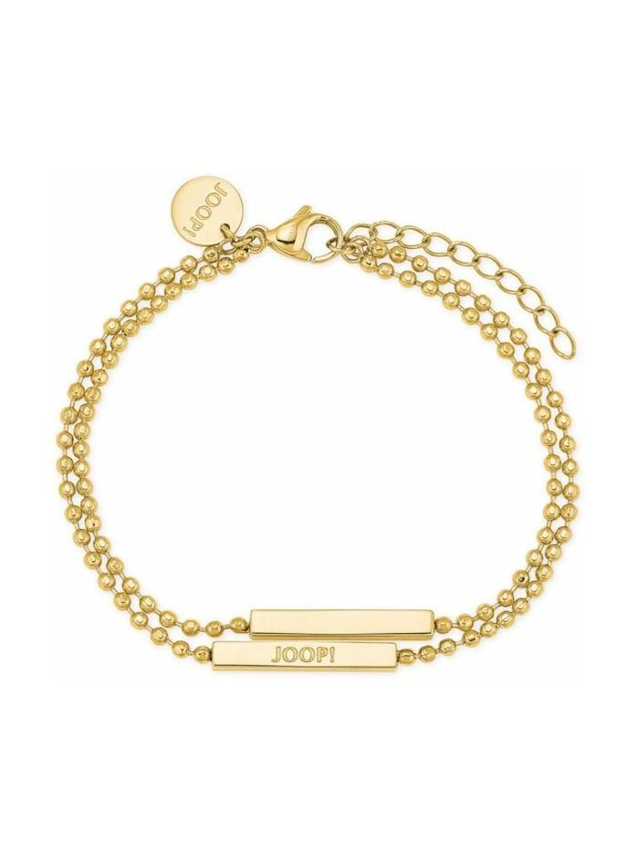 JOOP! Armband für Damen, Edelstahl, Silber