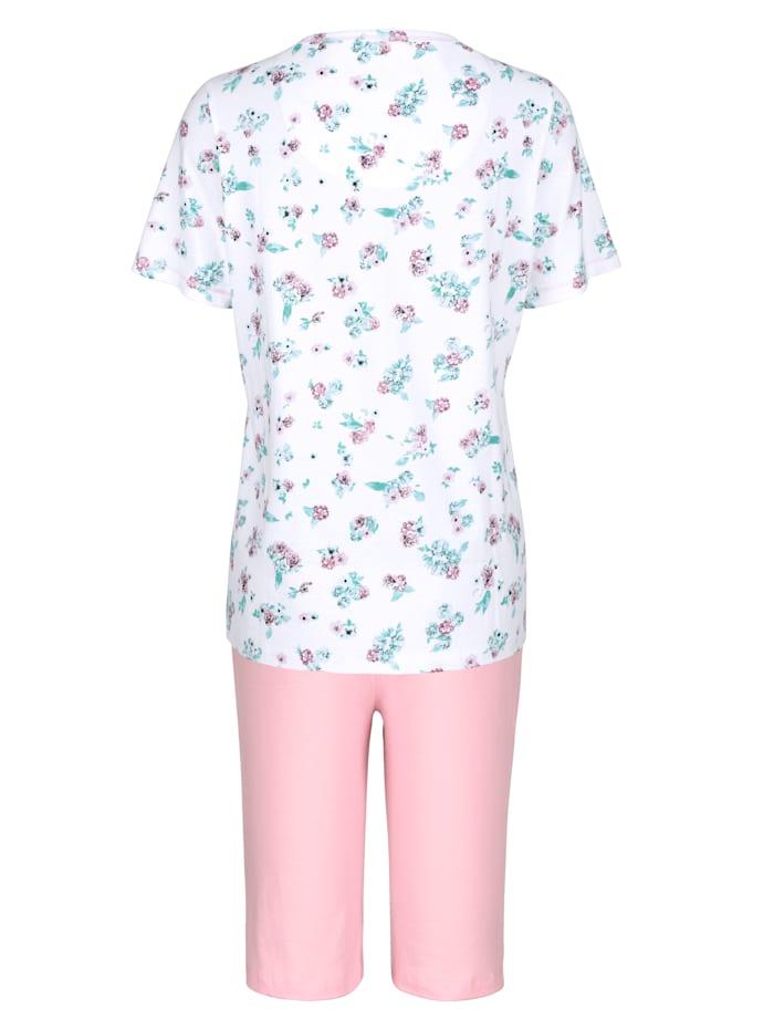 Pyjashort avec coutures métallisées