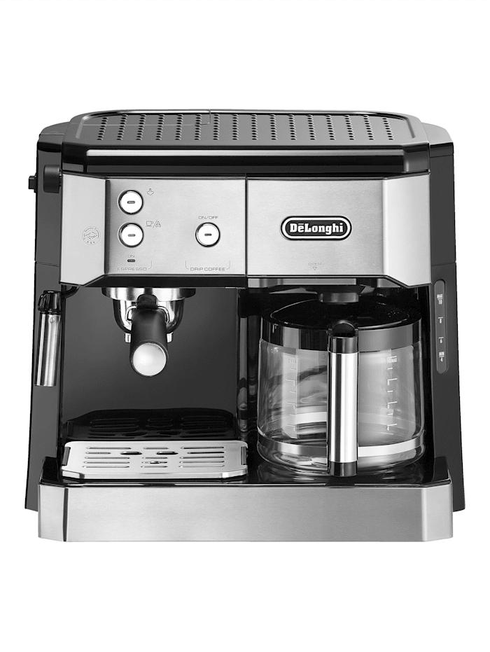 DeLonghi DeLonghi Kombi - Kaffeemaschine BCO 421.S, Silberfarben/Schwarz