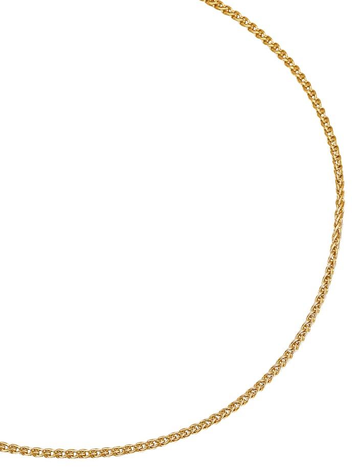Diemer Gold Zopfkette in Gelbgold, Gelb