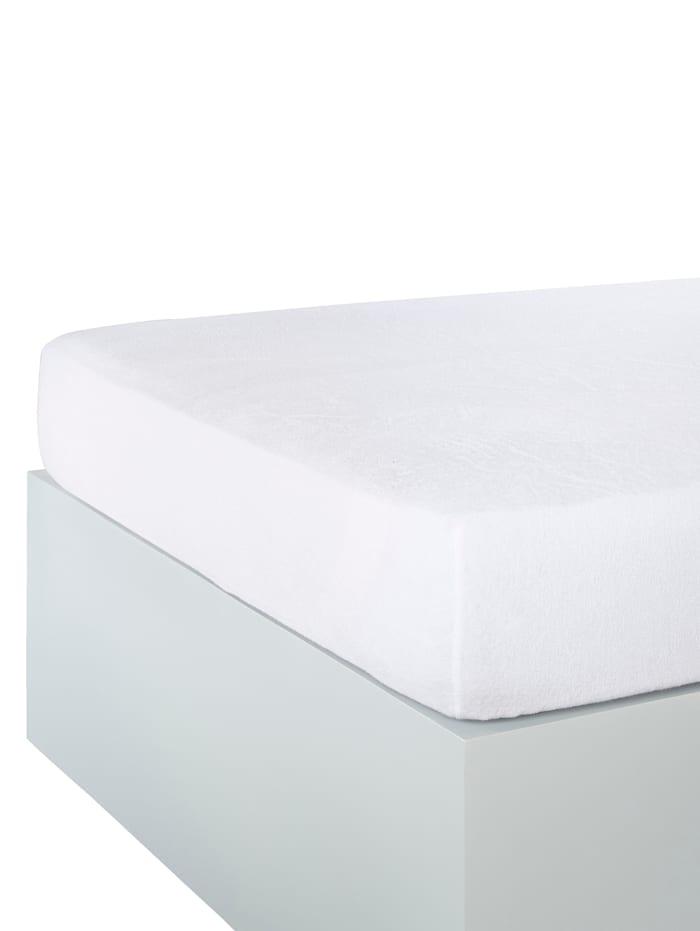 Webschatz Frottee-Stretch Spannbettlaken, Weiß
