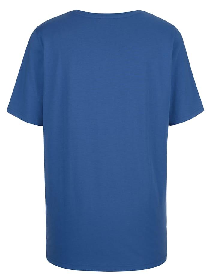 Shirt mit Dekosteinchen am Ausschnitt