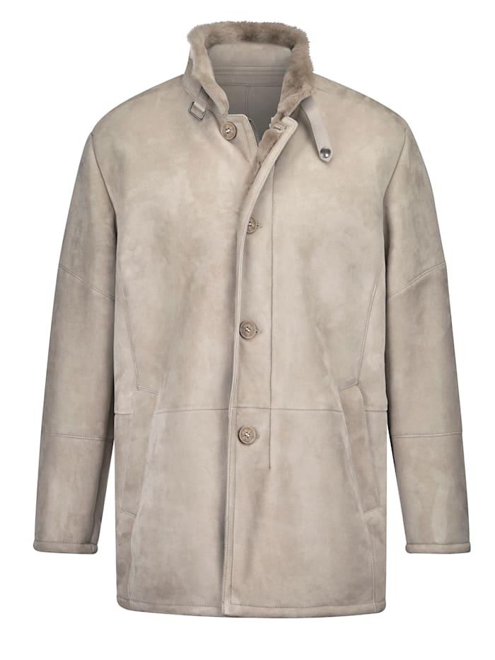 Babista Premium Veste en toisond'agneau qui conserve bien la chaleur, Beige