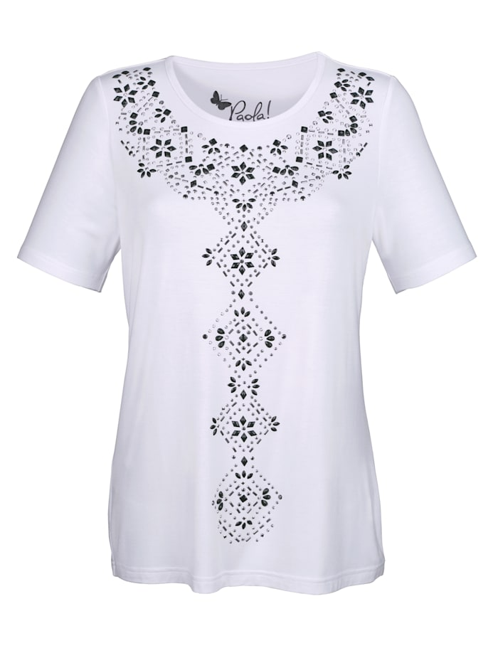 Top with round neck