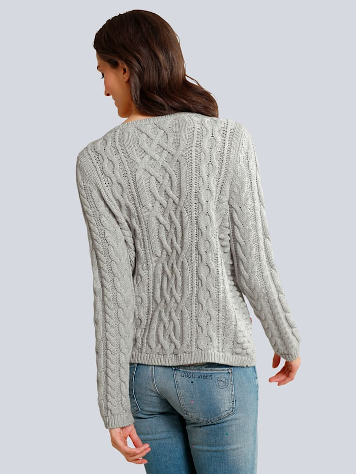 Pullover mit bunten Steinchen