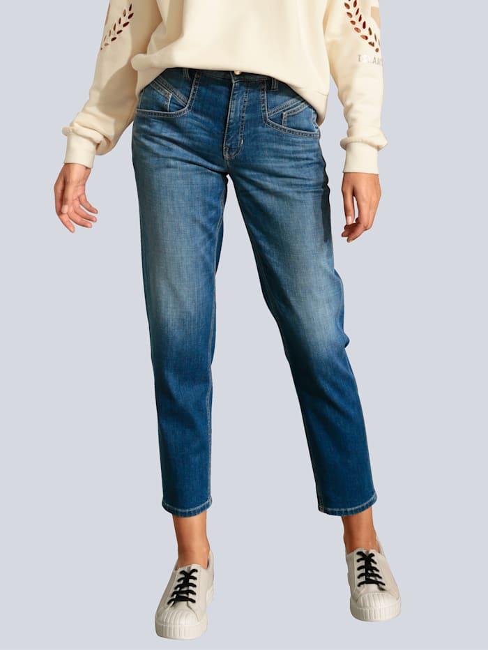 CAMBIO Jeans mit attraktiver Taschenlösung, Blue stone