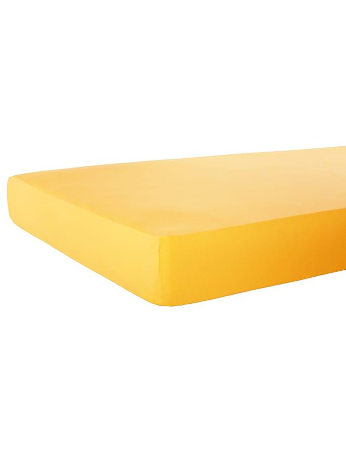 Webschatz Spannbetttuch, gelb