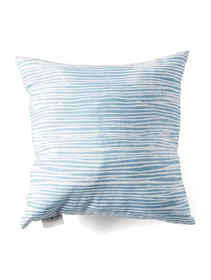 Tom Tailor Gemusterte Kissenhülle, blue-white