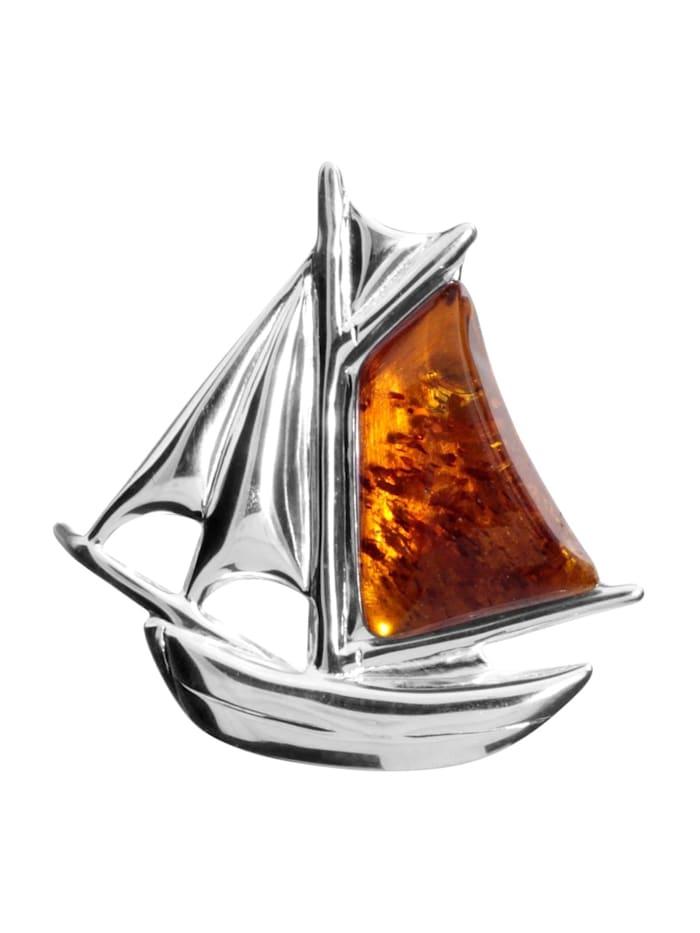 OSTSEE-SCHMUCK Brosche - Schiff - Silber 925/000 -, Silber 925
