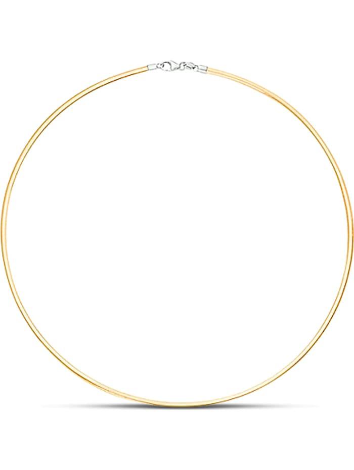 CHRIST C-Collection CHRIST Damen-Halsreif 585er Gelbgold, 585er Weißgold, bicolor