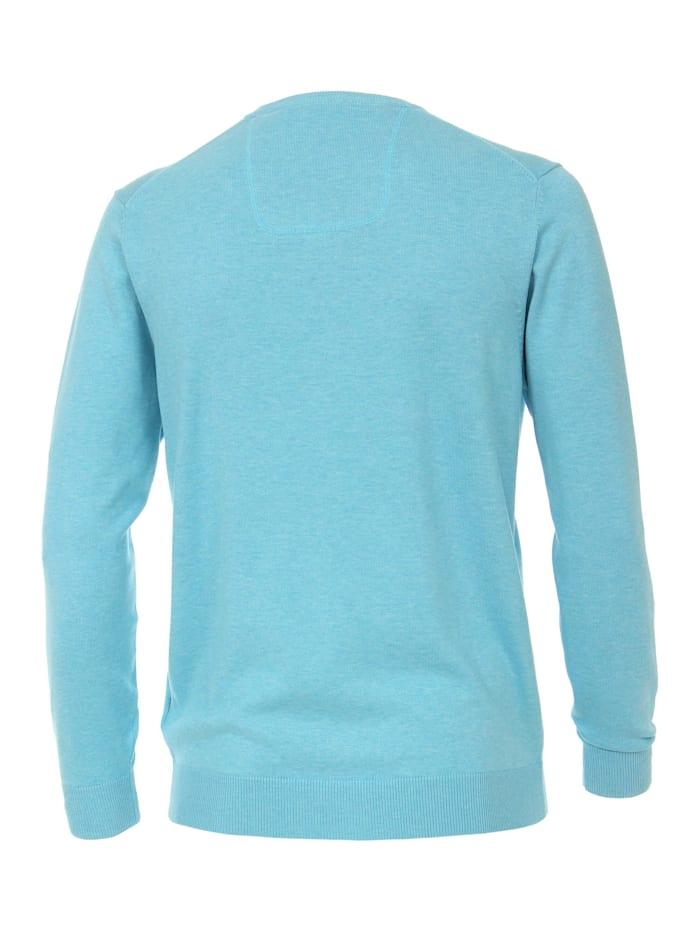 Pullover mit V-Ausschnitt uni